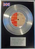 "KATE BUSH - 7"" Platinum Disc - WUTHERING HEIGHTS"